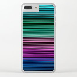 Rainbow thread , abstract pattern 1 Clear iPhone Case