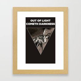 Out of light cometh darkness. (Crown a dark animal). Framed Art Print