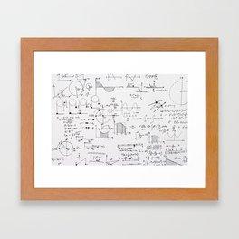 Mathematical equations Framed Art Print