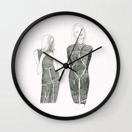 Pink Shibari  Wall Clock