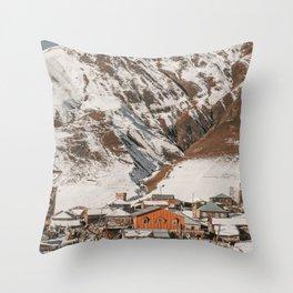 Simple Village Throw Pillow