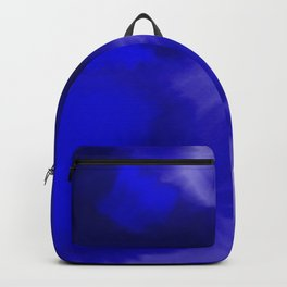 Blue Watercolor Abstract Backpack