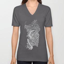 Sardinian fingerprint (black) Unisex V-Neck