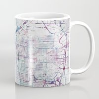 kansas Mugs featuring Kansas city map by MapMapMaps.Watercolors