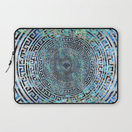 Circular Greek Meander Pattern - Greek Key Ornament Laptop Sleeve