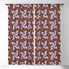 Modern abstract floral multicolor surface 624 Blackout Curtain