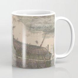 Vintage Pictorial Map of Washington DC (1865) Coffee Mug