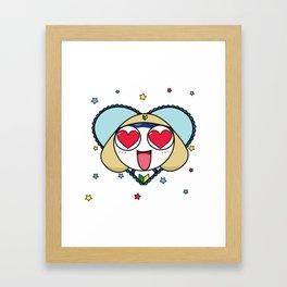 Space Frog In Love. Framed Art Print