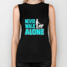 Never Walk Alone Dog Lover Gift Biker Tank