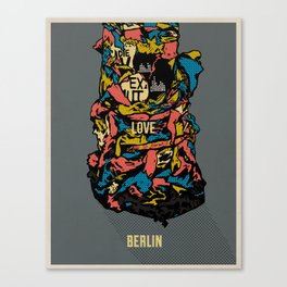 Love Berlin! Canvas Print