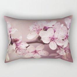 Soft Pink Cherry Blossom Rectangular Pillow