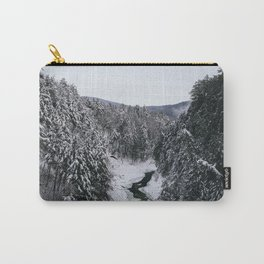 Winter in Quechee Gorge, VT Carry-All Pouch