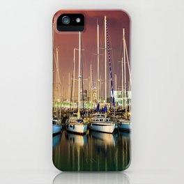 Barcelona Yacht Club iPhone Case