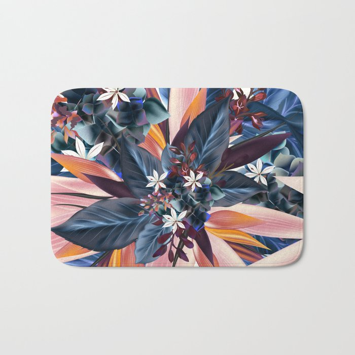 Tropical floral pattern with exotic flowers Bath Mat