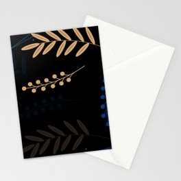Leaves at Night Stationery Cards