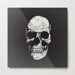B-Skull Metal Print