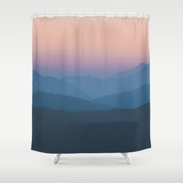Sunset over Nepal Shower Curtain