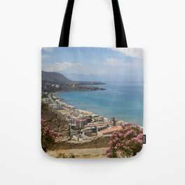 Cefalu view from La Roca Tote Bag