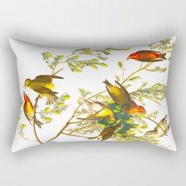 American Crossbill Vintage Bird Illustration Rectangular Pillow