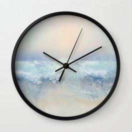 Ocean Splash In The Sunset Wall Clock