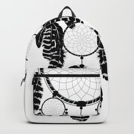 Dream catcher silhouette Backpack