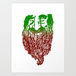 Root Beard Art Print