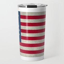 American Bennington flag - Vintage Stone Textured Travel Mug