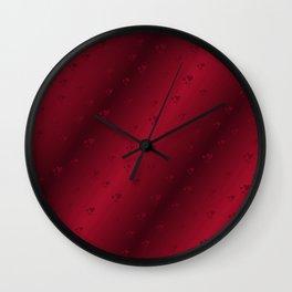 red heart shiny dark background Wall Clock