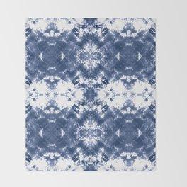 Shibori Tie Dye Indigo Blue Throw Blanket