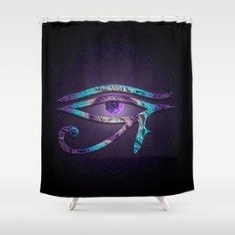 Eye of Horus meets Third Eye Shower Curtain
