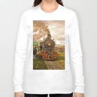 train Long Sleeve T-shirts featuring Train by Alejandra Triana Muñoz (Alejandra Sweet