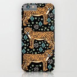 Cheetah safari art printmaking screen print giclee by andrea lauren iPhone Case