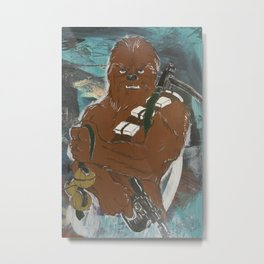 Lock and Load Chewie Metal Print