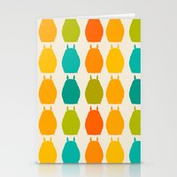 calcifer Stationery Cards featuring my neighbor pattern by ururuty