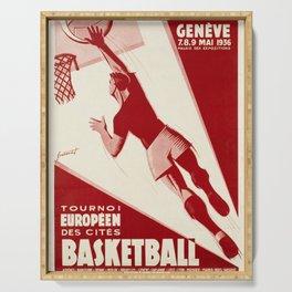 cartello geneve 2eme tournoi europeen des Serving Tray