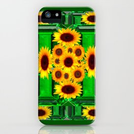 SPRING GREEN YELLOW FLOWERS  ART DECORATIVE  DESIGN iPhone Case