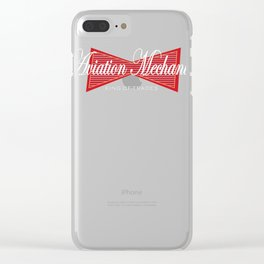 Aviation Mechanic King of Trades Airplane Clear iPhone Case