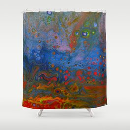 Melting Rainbow Shower Curtain