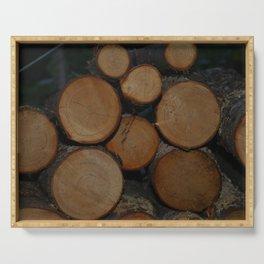 Fresh Cut Firewood! Serving Tray