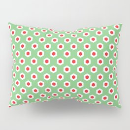 Holiday Hexies Mint & Red Pillow Sham