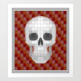 Red Ѕkull Art Print