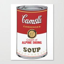 Camell's Soup CREAM OF ALPINE SKIING Pop Art Canvas Print