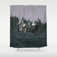 dancing Shower Curtains featuring DANCING. by Mrs Araneae