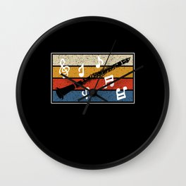 Love Playing Listening Clarinet Sound of Happiness Wall Clock