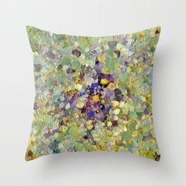 Petals as Paint - Primrose and Petals Throw Pillow