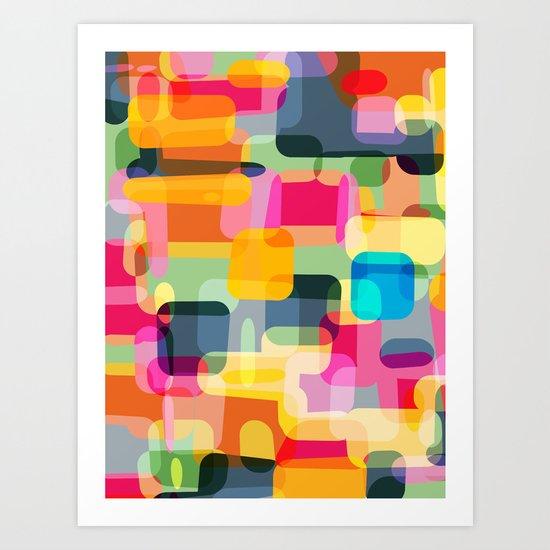 technicolour 2 Art Print