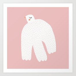 White Dove Art Print