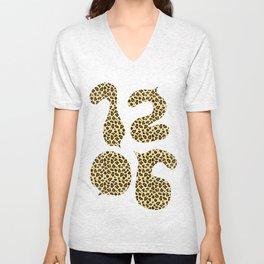 1206 Leopard Spots Unisex V-Neck