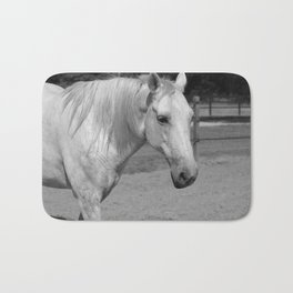 Horse In Black And White Bath Mat
