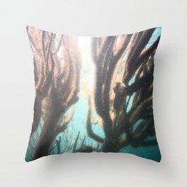 Deep Blue Reef Throw Pillow